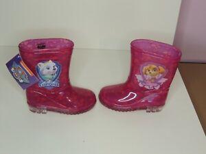 "GIRLS WELLINGTON BOOTS PAW PATROL"" WELLIES/WELLIE Purple UK 6"
