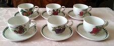 Portmeirion Pomona Servizio 6 Tazze The Cappuccino Colazione porcellana inglese