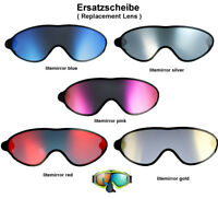 Uvex Comanche Take Off Ersatzscheibe blue gold silver red pink Skibrille Goggle