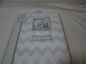 L'il Peach STAR BEARS Baby Memory Record Book First Five Years - Grey/White NEW