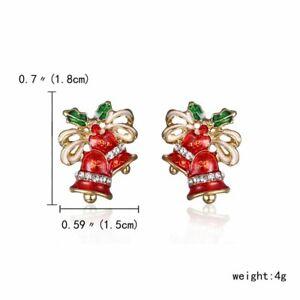 Christmas Women Crystal Snowman Tree Ear Stud Earrings Jewelry Gift wholesale