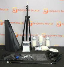LS Pro Photo Studio 4 Socket Light Lighting Boom Stand Photography Professional