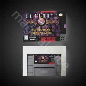 Ultimate Mortal Kombat 3 - SNES Game Card + BOX US Version NTSC with Retail Box
