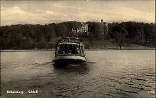 Babelsberg Brandenburg DDR s/w AK 1959 Blick über den See auf das Schloß Schiff