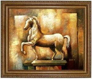 Ölbild Pferd, Pferdeportrait, handgemaltes Ölgemälde, F:50x60cm Totalabverkauf,