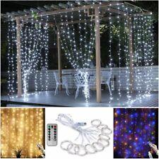 3M 300 LED Curtain Fairy String Lights USB Hanging Window Bedroom Wedding Decor