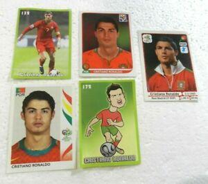 CRISTIANO RONALDO LOT 5 CARDS (GERMANY 2006 - SOUTH AFRICA 2010 - EURO 2012 ....