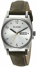 Nixon Women's A955-2232-00 Jane Leather, Silver / Surplus Dial Day-Date A9552232