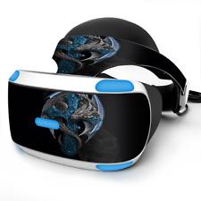 Skin Wrap for Sony Playstation PSVR Headset Dragon on Cross