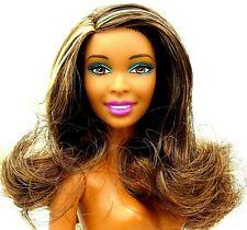 Barbie Nikki African American Doll Brunette Brown eyes Bendable legs Nude