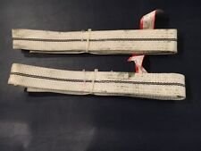 Two Webbing Sling Lifting/Tow Straps - 1.5 Meter Long, 50mm Wide, 800lb Capacity