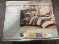 KAS Australia South Hampton TWIN Duvet Cover Bedding Blue White Stripe NEW