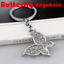 Silver For Car Lovely Chain key Ring Keychain Metal New Butterfly Fashion 1 Pc