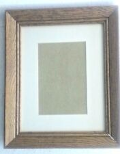 "Oak Wall Mount Picture Frame, Non-Glare Glass, Holds 8"" x 10"" Picture or Smaller"