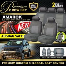 Volkswagon Amarok PREMIUM Car Seat Covers 2ROW TDI400 TDI420 2011-2017 CHARCOAL