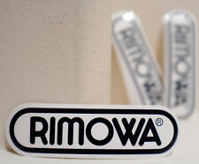 "#4494 Rimowa Black Luggage Label Logo 3.5x1"" 9x2.5cm Waterproof Decal Sticker"
