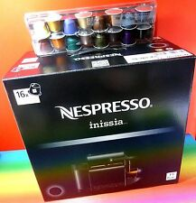 NESPRESSO INISSIA  BLACK COFFEE MACHINE + 16 Capsules,220-240V,NEW