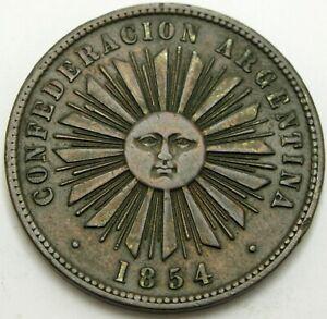 ARGENTINA (Confederation) 4 Centavos 1854 - Copper - XF- - 1931 *