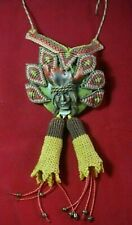 Peruvian Regulable shaman necklace in macrame technique and natural stone