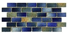 Fujiwa Porcelain Swimming Pool Waterline Tile - GLASSTEL 32 AUTUMN 1 SQ FT PAC2