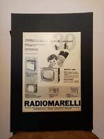 Pubblicità originale Radiomarelli 1961 rifilatura da rivista in passepartout