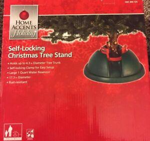 Home Accents Super Grip Self-Locking Christmas Tree Stand - NIB