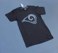 LA Rams Ring Spun Soft Triple Peak T Shirt Majestic Size S Black (NWT)