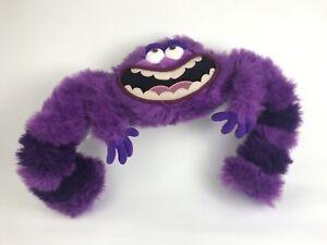 "Disney Store Monsters University Art Plush 13"" Tall Stuffed Animal Purple Furry"