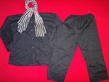 Vietnam War VC Guerrilla Black Uniform (Shirt + Pants) & Checkered Scarf / Towel