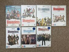 Shameless : series 1-7 DVD boxsets original DVD cases region 2, 25 discs