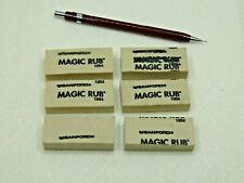 Sanford Magic Rub Erasers Misprint Bulk - Six (6) non-abrasive erasers NeverUsed