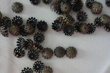 30 Filigree Bead Caps 12x6mm Antique Bronze #bc0050 Combine Post-See Listing