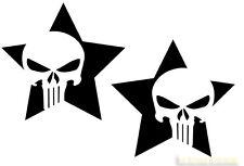 Punisher Aufkleber 2x Tank Sticker punk skull harley motorrad sticker 666 teufel