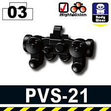 PVS-21 (W110) Tactical Army Night Vision Goggles compatible w/toy brick minifig