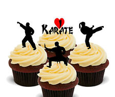 Karate Edible Cupcake Toppers, Standup Fairy Cake Decorations, Kids Martial Arts
