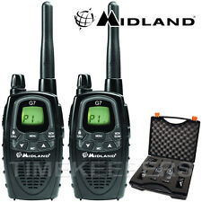 12km MIDLAND g7 XT VALIBOX WALKIE TALKIE DUE VIE Licenza Gratis Radio Kit da viaggio
