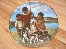 RARE Anna Perenna Nori Peter Siberian Husky Proud Mother Plate
