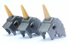 LEGO® Lot of 3 - Horse Battle Helmet with Unicorn Horn