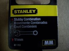 NEW  STANLEY  STUBBY  FULL  POLISH  COMBINATION  WRENCH METRIC  11 mm
