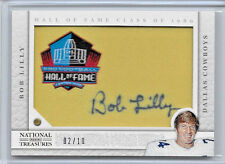 2013 NATIONAL TREASURES BOB LILLY HALL OF FAME AUTO JUMBO JERSEY PATCH 2/10 RARE