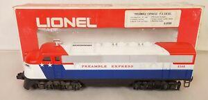LIONEL #6-8568 PREAMBLE EXPRESS F-3 DIESEL LOCOMOTIVE-NEW IN ORIGINAL BOX!