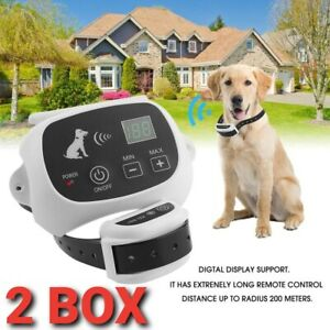 2 SYSTEMS Wireless Electric Dog USA Fence Pet Containment System Shock Collars