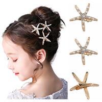 For Women Headwear Hair Clips Starfish Hairpin Girls Barrettes Rhinestone Pearl