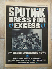"SIGUE SIGUE SPUTNIK - DRESS FOR EXCESS, B&W, N.M.E. ADVERT POSTER, 11.5"" X 16.5"""