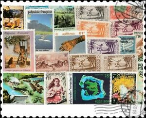 French Polynesia : 25 Different Stamps Collection