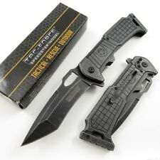 NEW! Tac-Force Grey Rifle Stock Assisted Folding Pocket Knife Bullet Cut Out