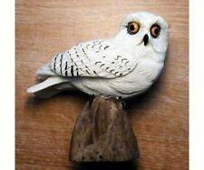 Poly  resin decorative bird  Table Piece - Snowy Owl - FWC135