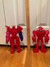 2 preschool  12 inch high robots.Arms and leg move. Do not transform.