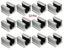 12X Linearlager Linearwagen Linearschlitten SBR16UU für 16mm Welle Linear