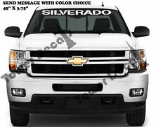 "SILVERADO WINDSHIELD BANNER 45""X3.75"" CHEVROLET TRUCK VINYL DECAL ACCESSORY"